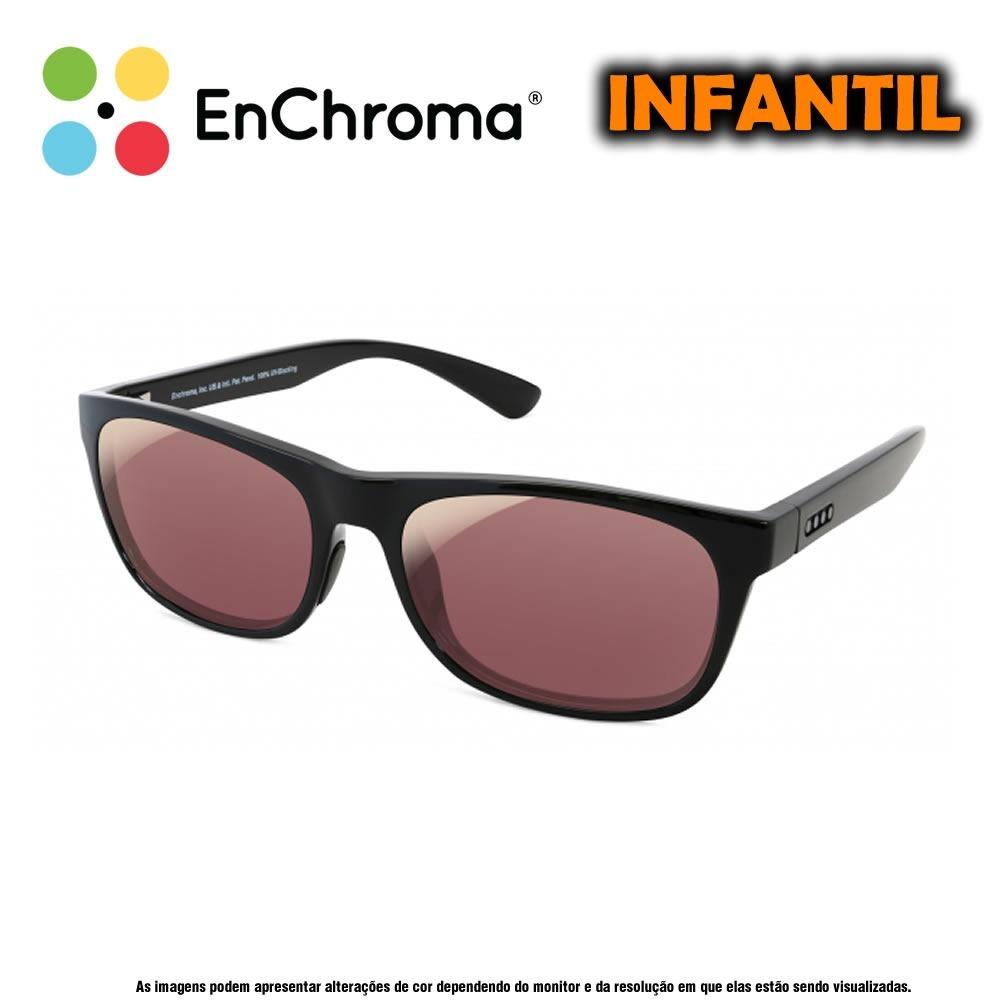 8bcba44a1a198 Óculos Para Daltônicos Enchroma Colby Preto Indoor Infantil - R ...