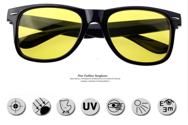 b92edb7235f87 Óculos Para Dirigir A Noite Visão Noturna Lente Amarela - R  120,90 em  Mercado Livre