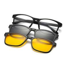Oculos Para Grau Armação Masculino Clip On Polarizado Barato