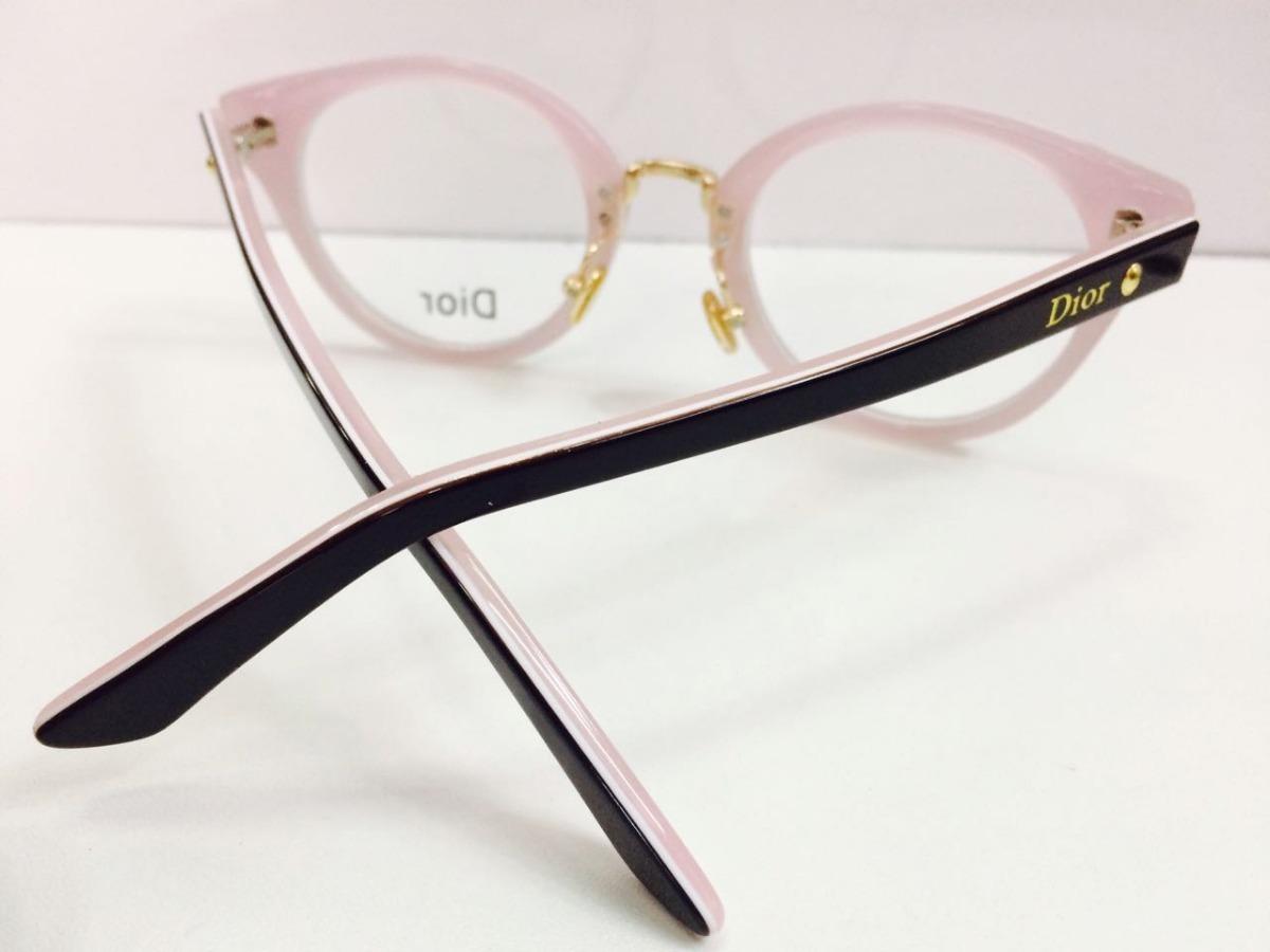 Oculos Para Grau Armação Modelo Redondo Preto -di801 - R  134,90 em ... a2953636e8