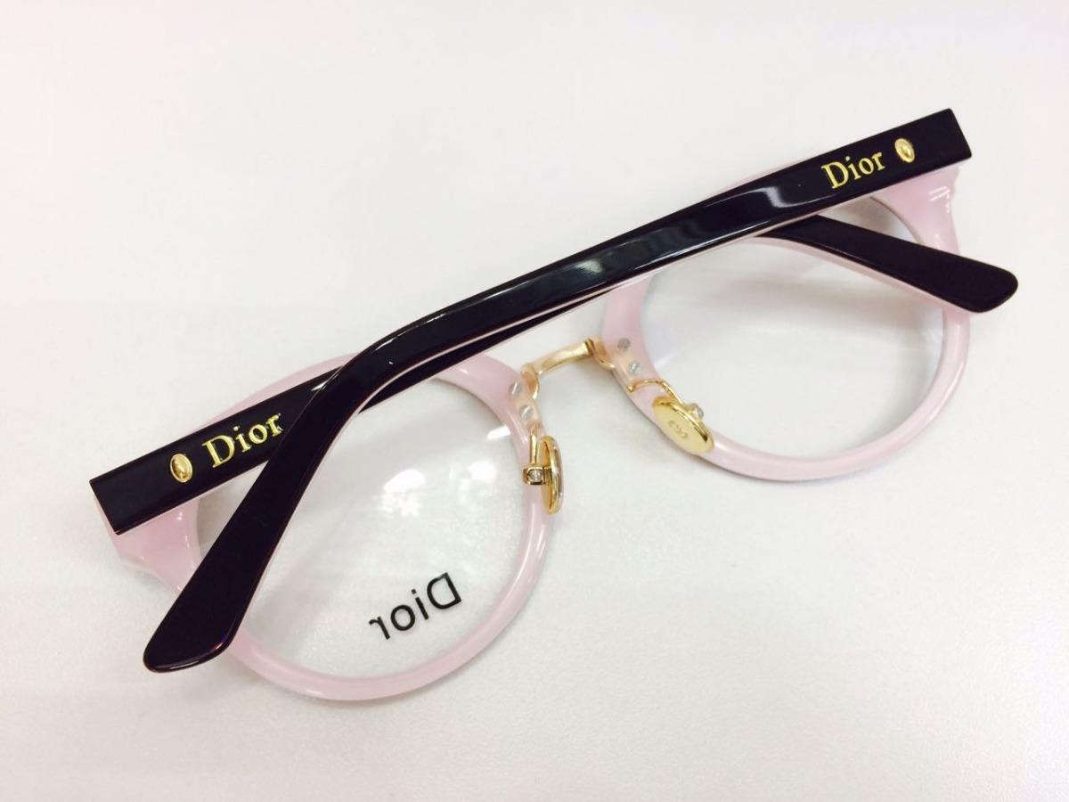 oculos para grau armação novo modelo redondo preto -di801. Carregando zoom. 8d9c584c1f