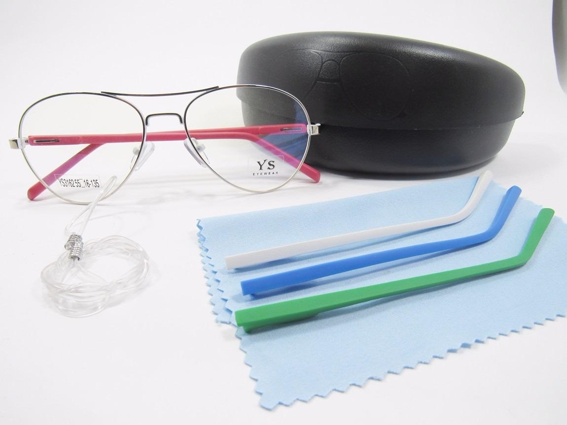 a23869794 óculos para grau aviador troca hastes (interno branco). Carregando zoom.