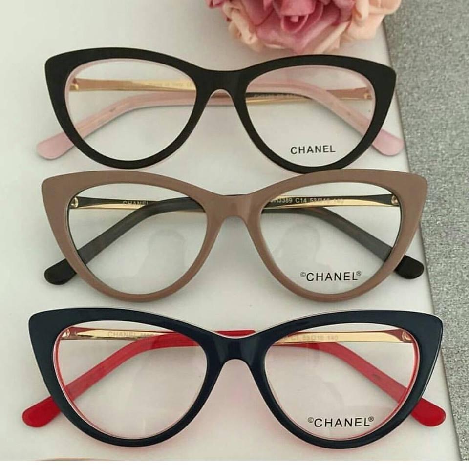 ababdff3d4224 Óculos Para Grau Feminino Chanel Acetato - Moda Na Tv -cn500 - R ...