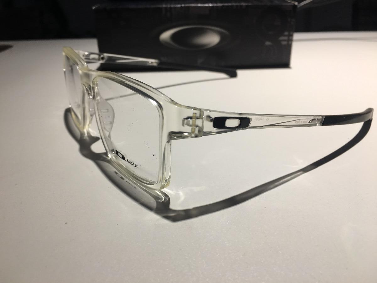 óculos para grau oakley chamfer ii squared clear transparent. Carregando  zoom. 788d3c3314
