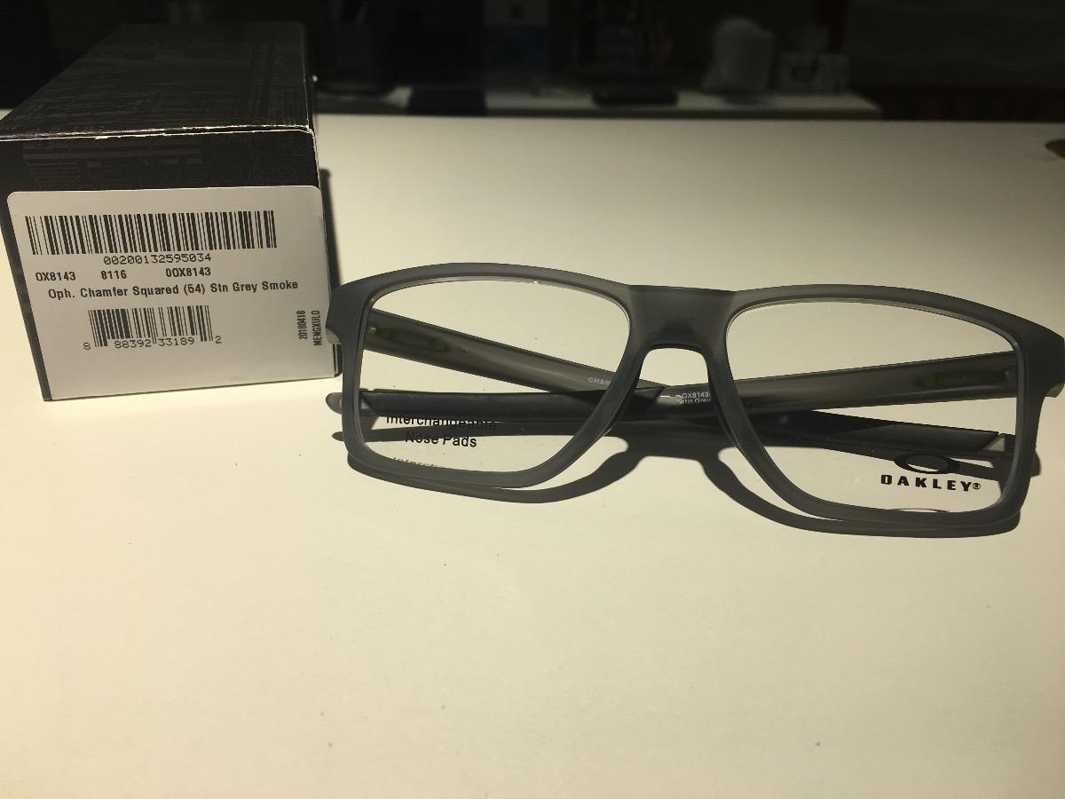óculos para grau oakley chamfer squared satin grey smoke. Carregando zoom. c083823b49