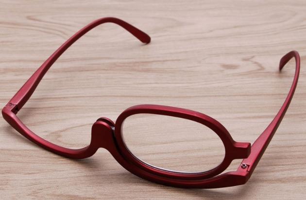Óculos Para Maquiagem Lupa Grau Aumenta +1,50 - Cor Vermelho - R  49 ... c4f4019926