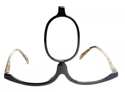 5533d1364 Óculos Para Maquiagem Lupa Grau Aumenta +4,00 Oncinha - R$ 55,90 em Mercado  Livre