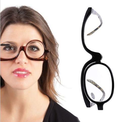 Óculos Para Maquiagem Lupa Grau Aumenta +4,00 Oncinha - R  55,90 em ... 01f6eef43a