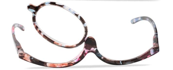 80cadfcbc Óculos Para Maquiagem Lupa Grau Aumenta +4,50 Cor Floral - R$ 89,90 ...