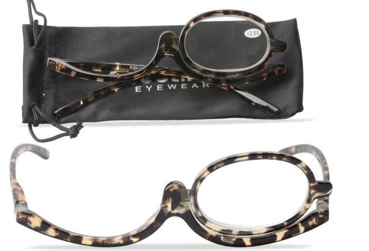 30b79e678 Óculos Para Maquiagem Lupa Grau Aumenta +4,50 Cor Tartaruga - R$ 89 ...
