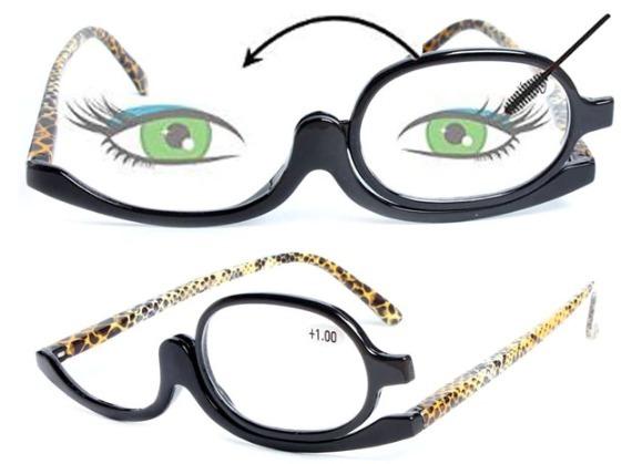 Óculos Para Maquiagem Lupa Grau Aumenta +5,00 Cor Leopardo - R  89 ... 54bb99ad9b