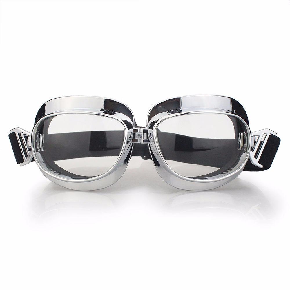 b05855eda oculos para motociclismo tipo aviador transparente. Carregando zoom.