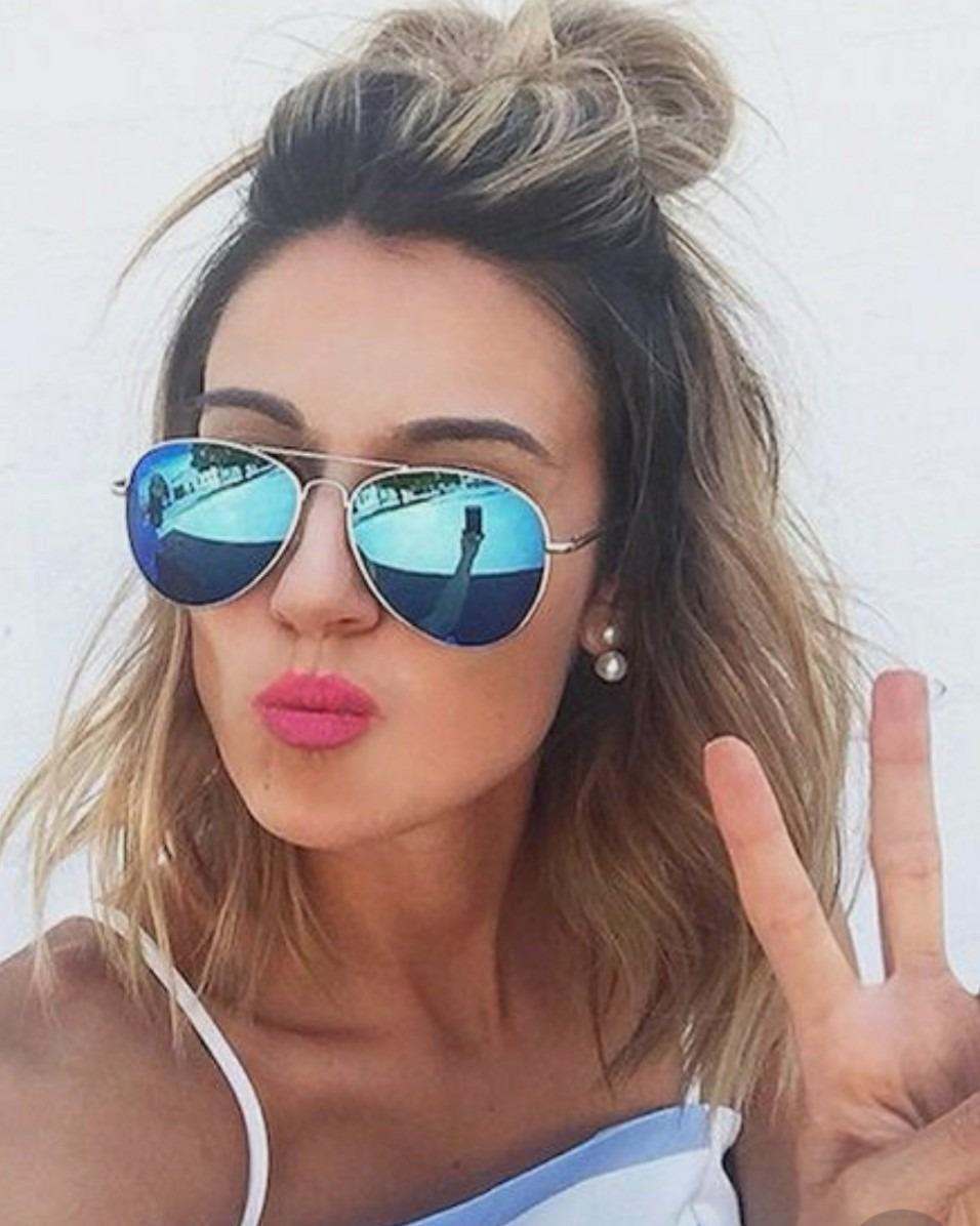 083835f16 óculos para mulher aviador lente preta tendencia chique luxo. Carregando  zoom.