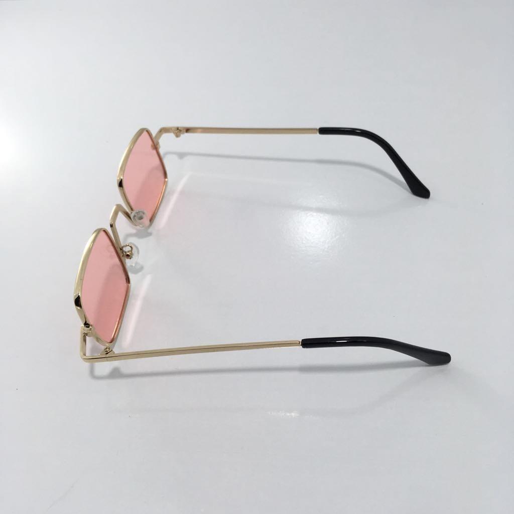 c16a27dfd2e47 óculos pequeno de sol retrô quadrado vintage unissex rosa. Carregando zoom.