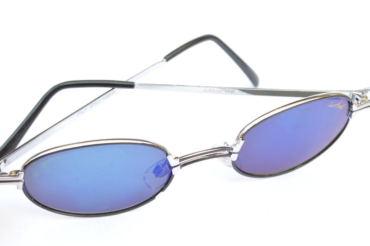 5ab447c135dc9 Óculos Pequeno Espelhado Detalhado C Prata Metal F23 - R  37