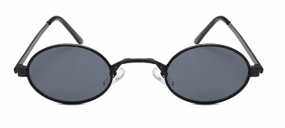 bdd0011a2 óculos pequeno retrô de sol redondo oval uv400 + brinde. Carregando zoom.