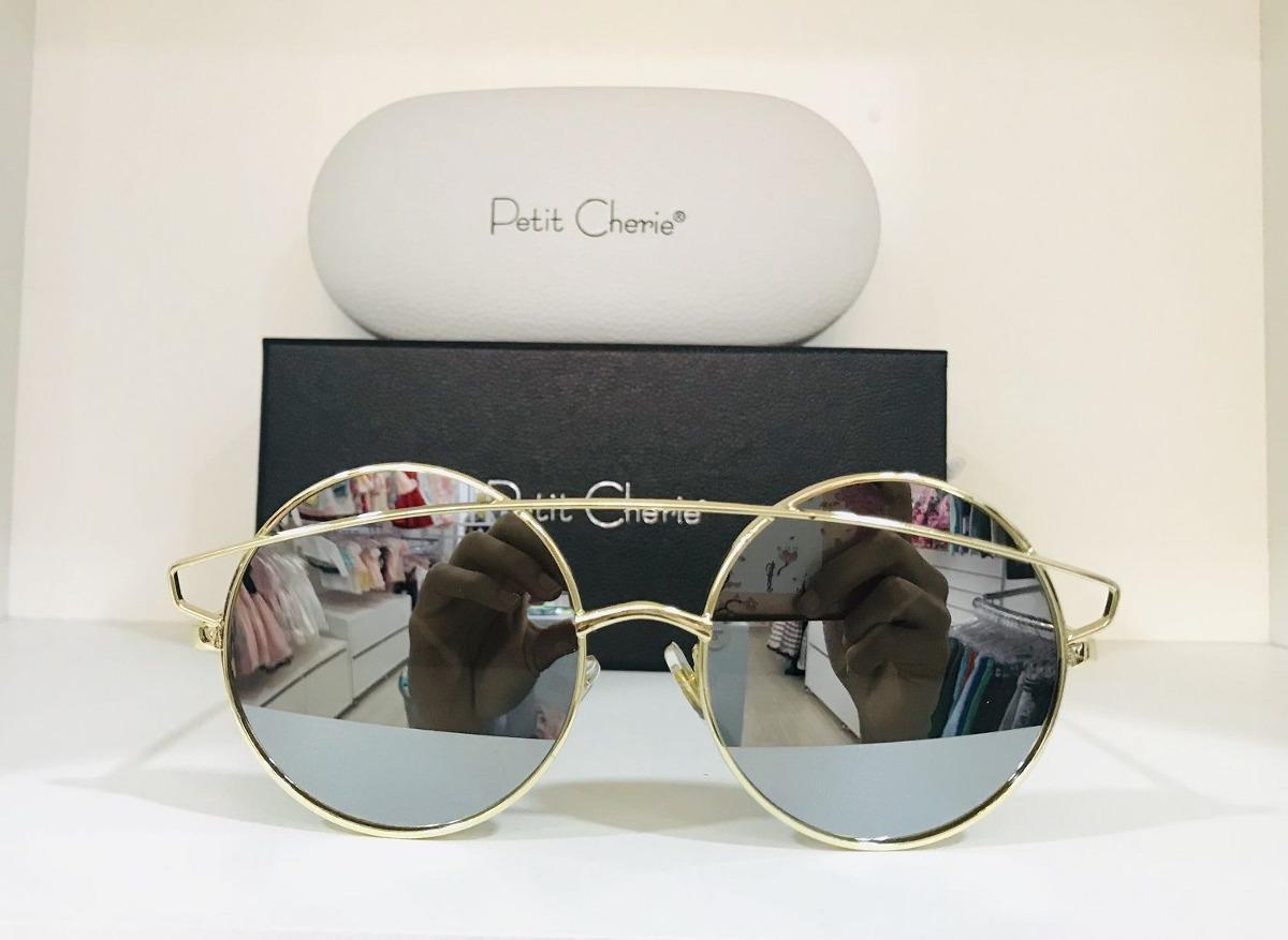 1a4f9e0c72ed5 Oculos Petit Cherie Metal Com Lente Espelhada - R  184,90 em Mercado ...