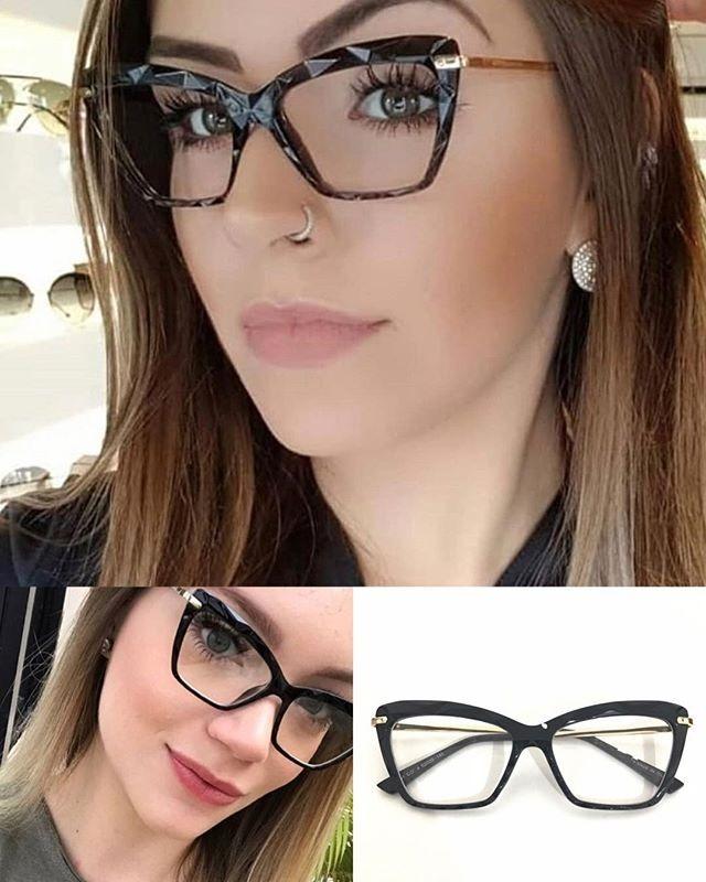 f7e343e177ded óculos p grau femenino armaçao retro diamante chic oluxo. Carregando zoom.