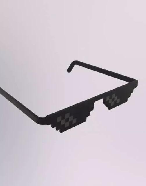 2020ec648ca18 Óculos Pixel Thug Life Turn Down Zoeira Mil Grau Mito - R  14