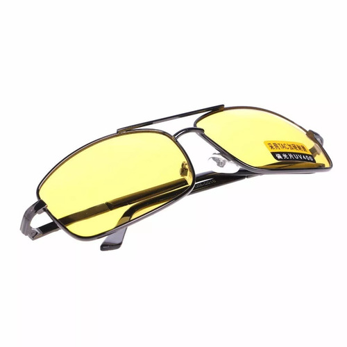 b6bf0ec9e9bfb Óculos Polarizado Masculino Feminino Dirigir A Noite Amarelo - R  49 ...