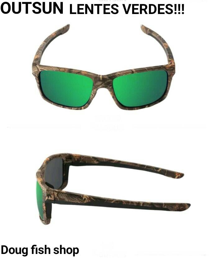 Óculos Polarizado Pesca Uv400 Outsun Tipo Maruri Lente Verde - R  120,00 em Mercado  Livre 0b8744f2af