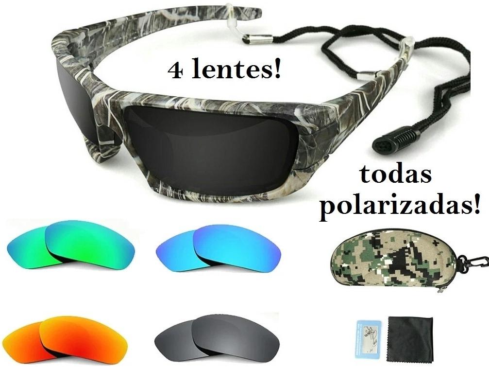acf66e9bd Oculos Polarizado Sol Pesca Esportes, 4 Lentes Polarizadas - R$ 164 ...