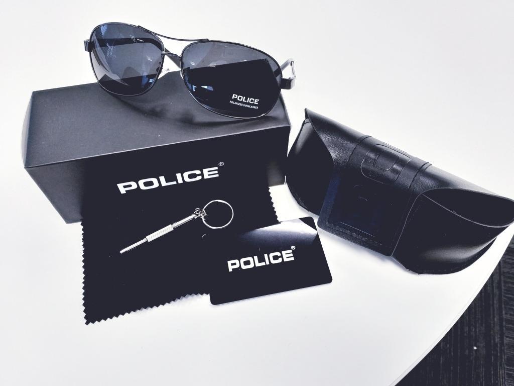 029e63b88f6b8 óculos police aviador militar polarizado cinzento. Carregando zoom.