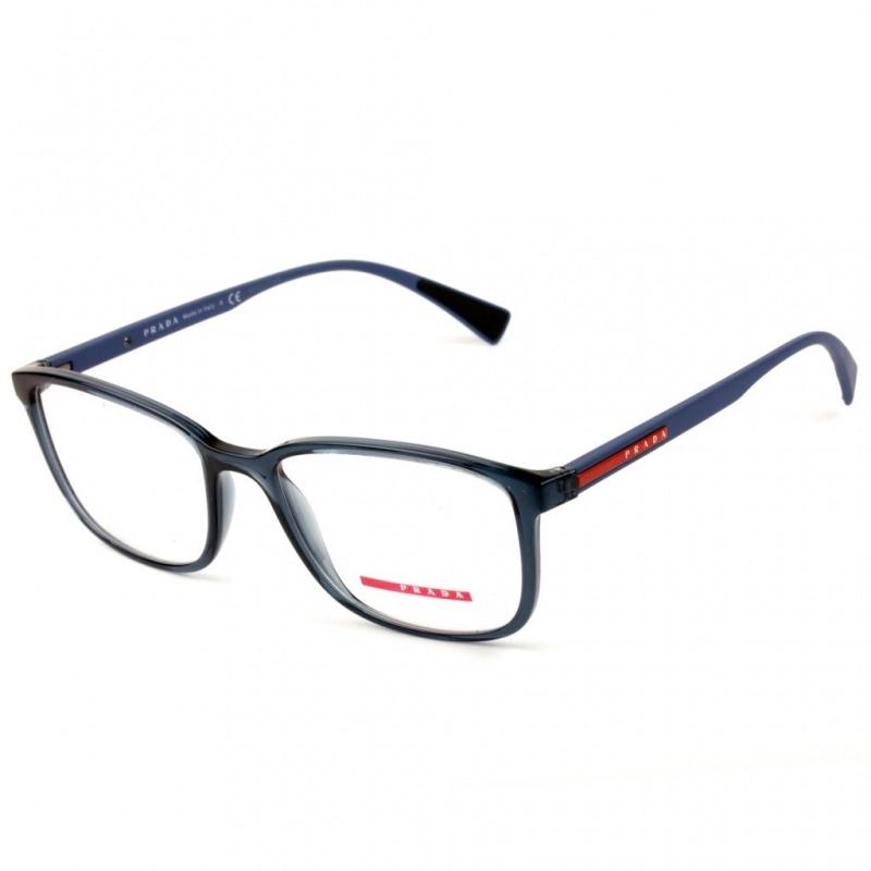 48b3c1bb3c0 Óculos Prada Linea Rossa Vps 04i Czh-1o1 55 - Grau Azul - R ... e5380e9d81