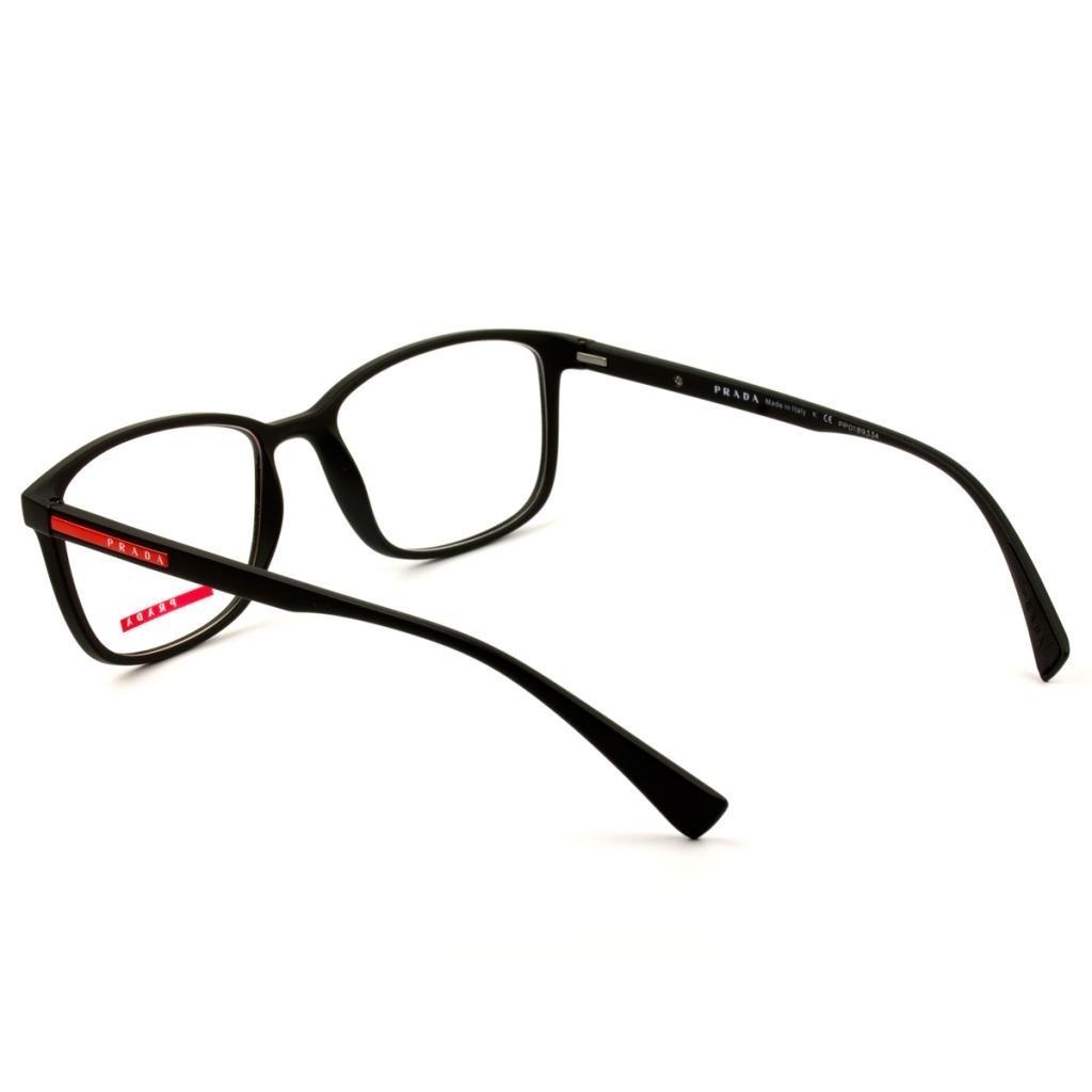 35b5c9916 Óculos Prada Linea Rossa Vps 04i Dg0-1o1 55 - Grau Preto - R$ 589,00 ...