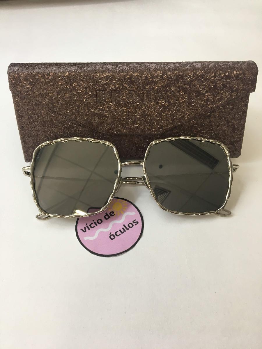 ... 097f3c4bcca óculos prada metal quadrado aviador espelhado proteção uv. 53f3637b10