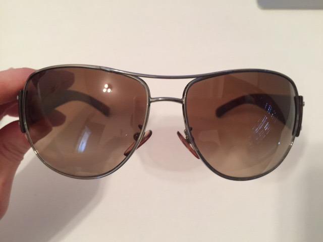 dcc712836 Óculos Prada Original, Modelo Aviador Marrom Degrade - R$ 199,00 em ...