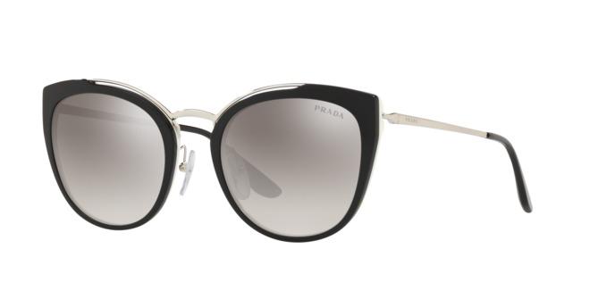 f2058089f40a6 Óculos Prada Pr20us 4bk5o0 Preto Lente Espelhada Prata Cinz - R ...
