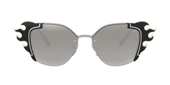 83ebe50c11f5f Óculos Prada Pr59vs 4285o0 Preto Lente Espelhada Prata Cinz - R ...