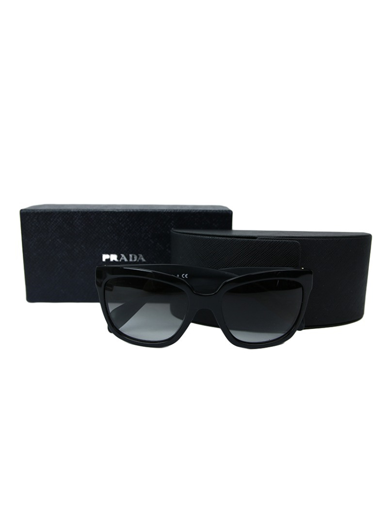 cdabe3b9dc7d0 Óculos Prada Preto Spr07p Original - R  400