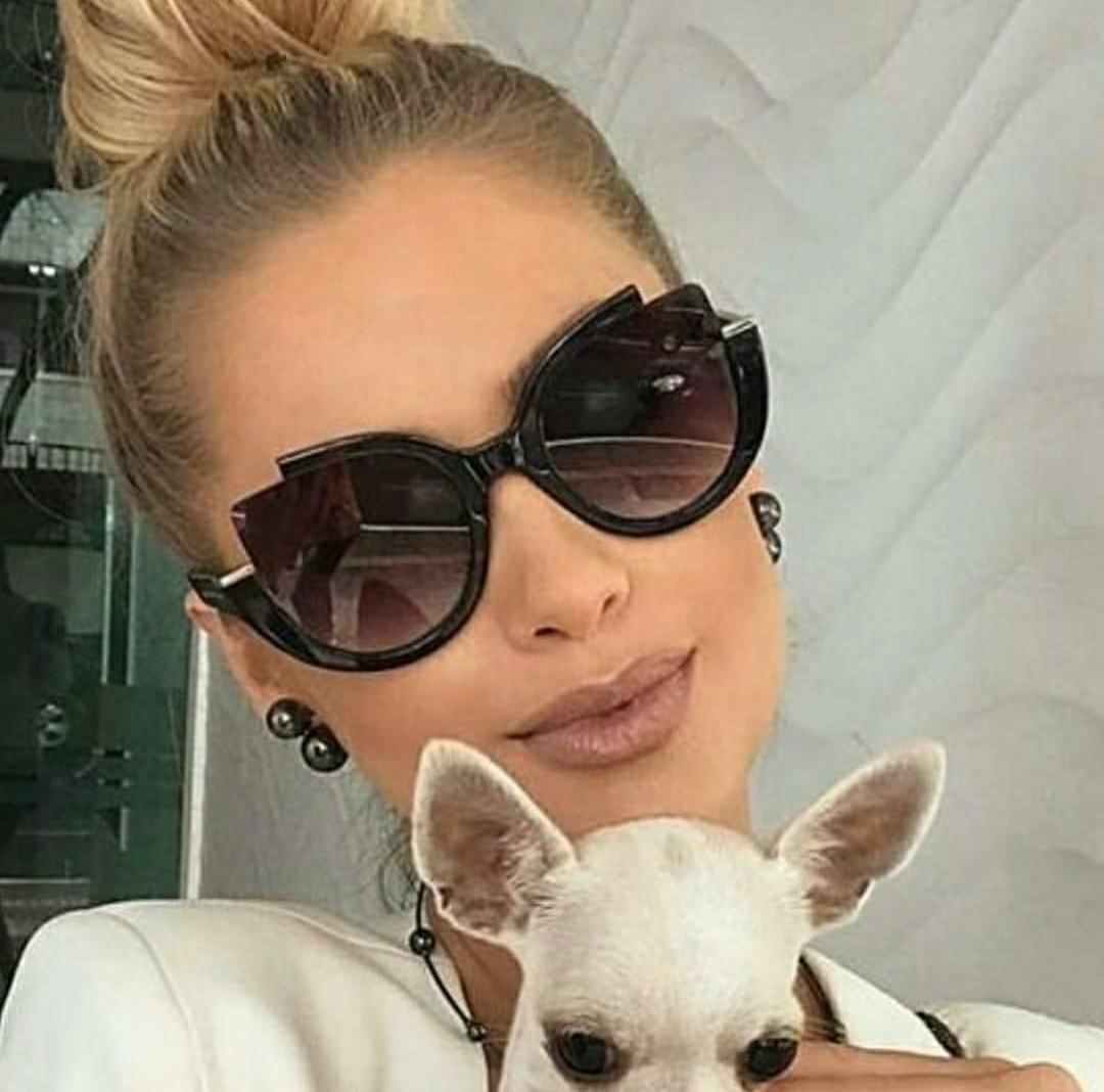 e53b7f31e Óculos Preto Importado Moda Feminino Viagem Chique Luxuoso - R$ 44 ...