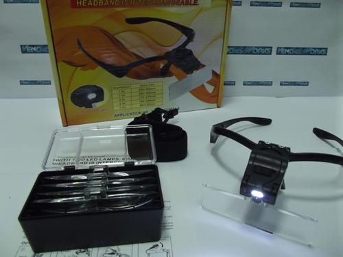 Óculos Profissional Lupa De Aumento Com 5 Lentes+ Case E Led - R  71 ... 358c8610fe