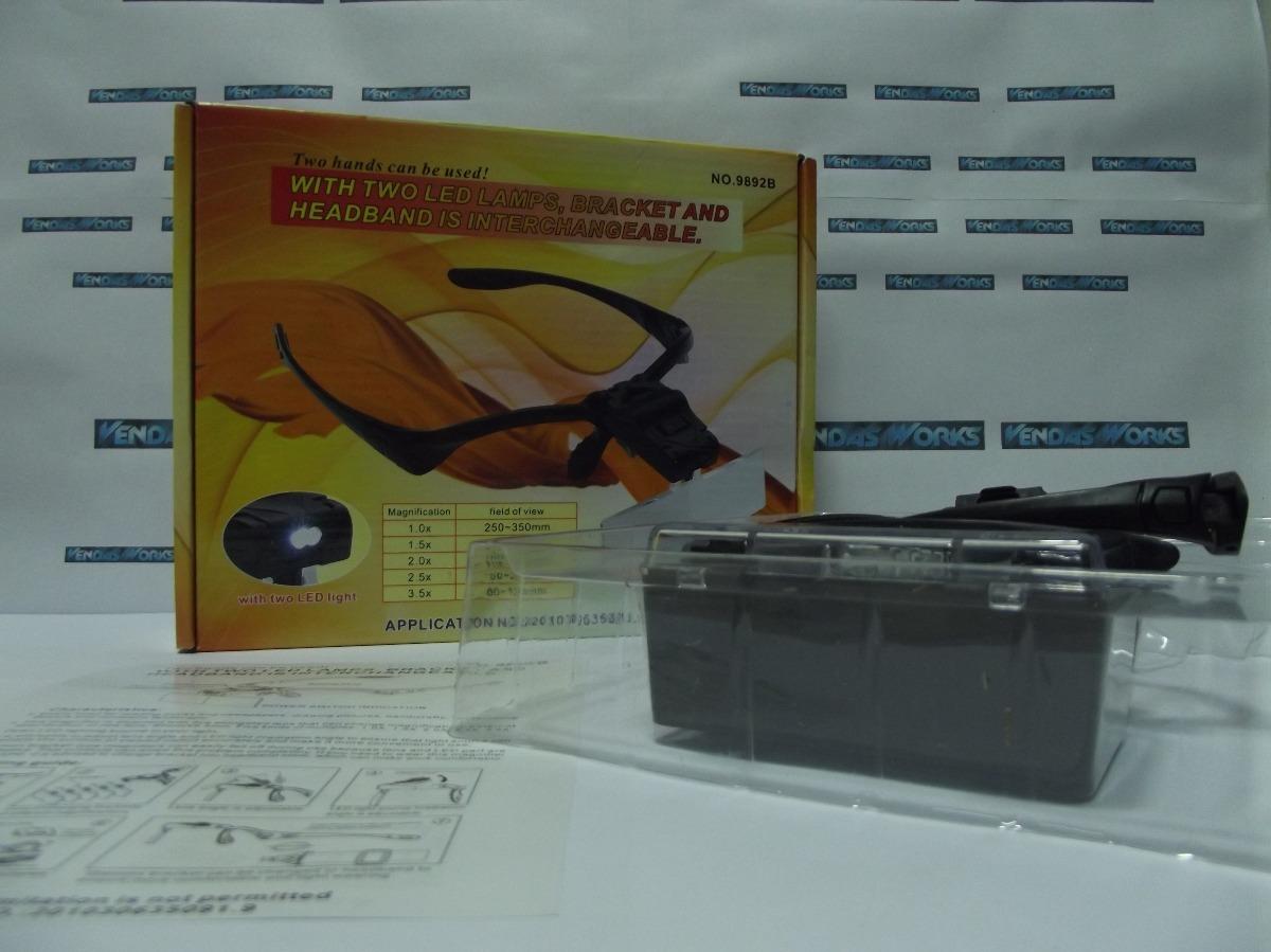 óculos profissional lupa de aumento com 5 lentes+ case e led. Carregando  zoom. a0e6b485b3