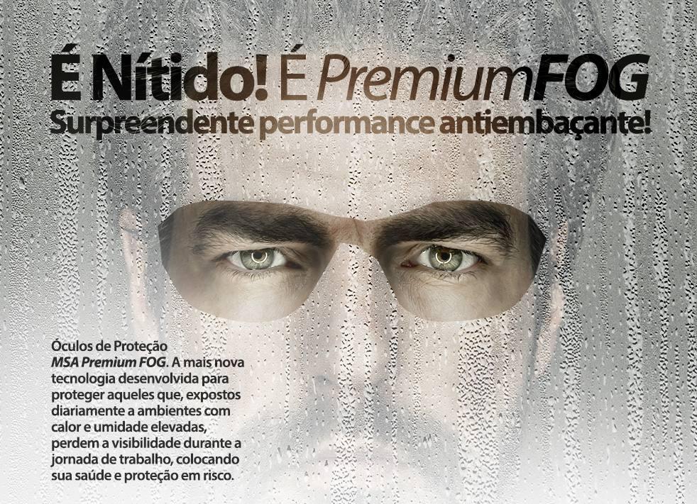 1e90d2f85d7f9 oculos protecao msa herrier premium fog 100% antiembacante. Carregando zoom.