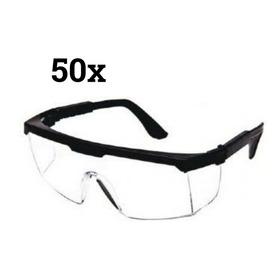 Óculos Proteção Segurança Incolor Rj Epi 1° Linha Kit 50 Un
