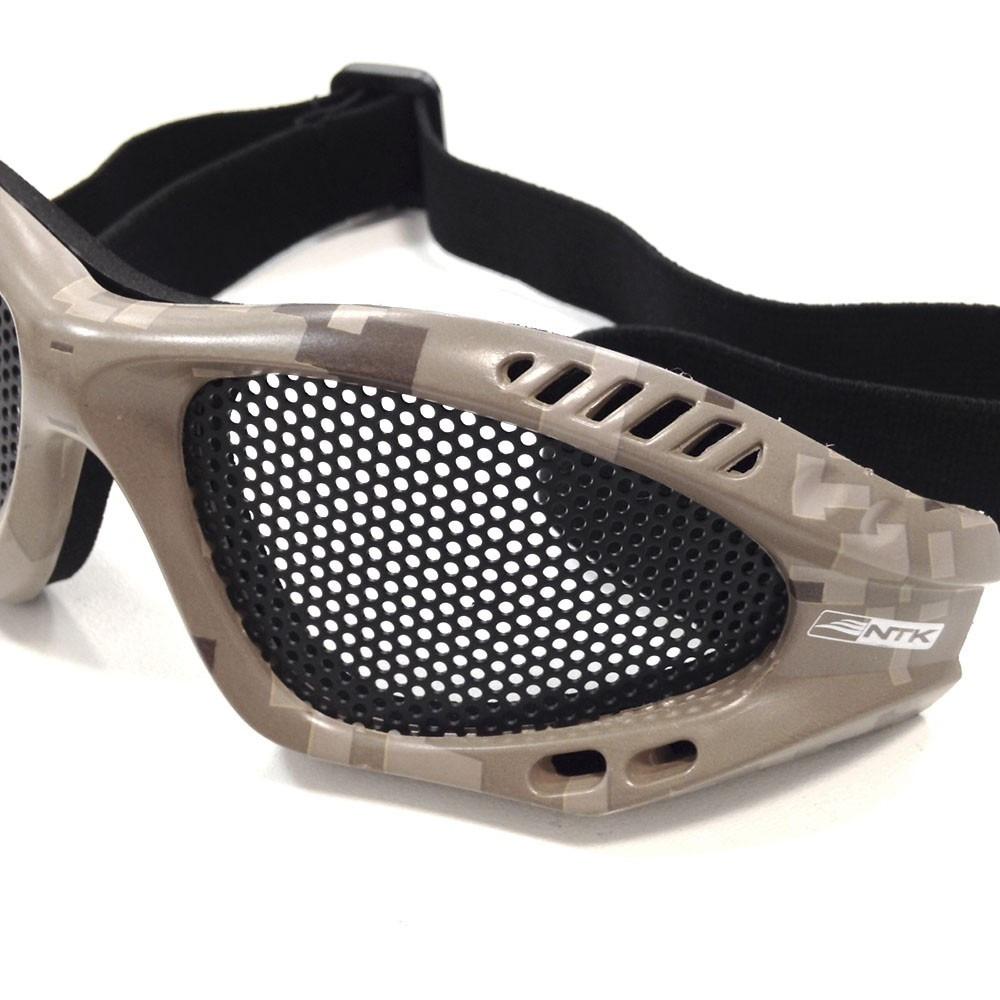 56e2db1b2da1a Óculos Proteção Airsoft Com Tela Camuflado Kobra Ntk Tático - R  90 ...