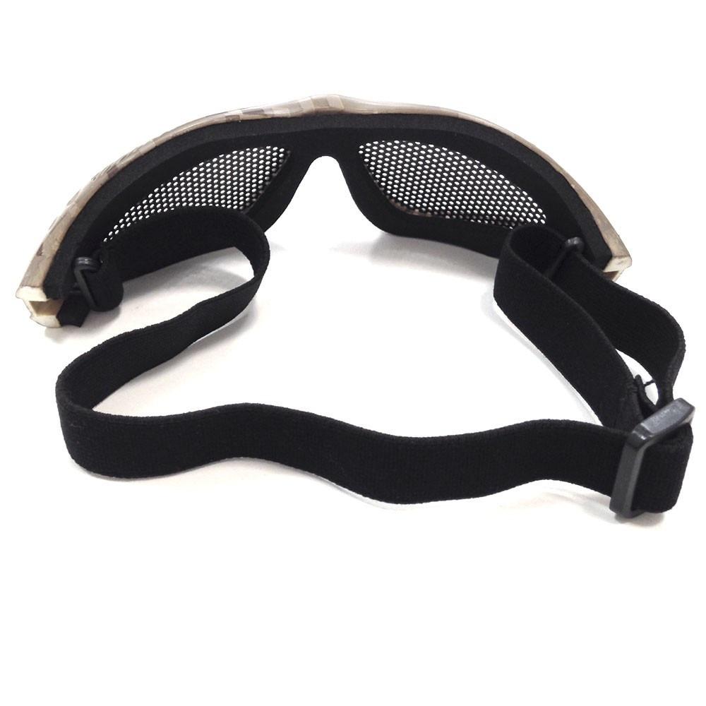 6fd1d581f8084 Óculos Proteção Airsoft Com Tela Camuflado Kobra Ntk Tático - R  95 ...