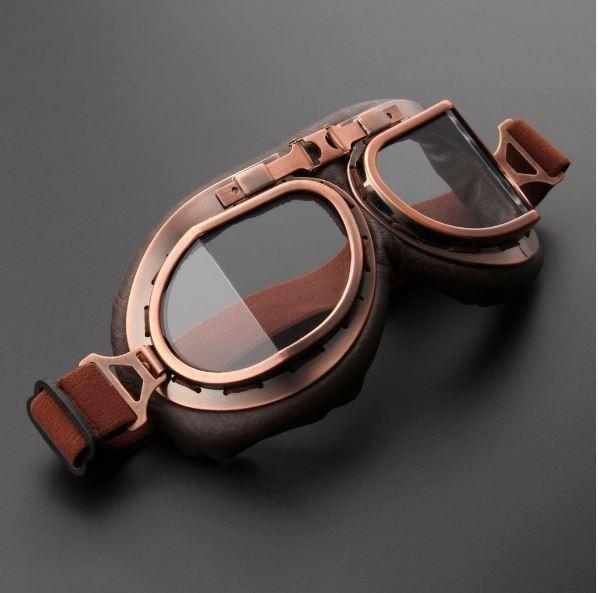 Óculos Proteção Aviador Moto Café Racer Bronze Cristal - R  85,00 em ... ded9b39d17