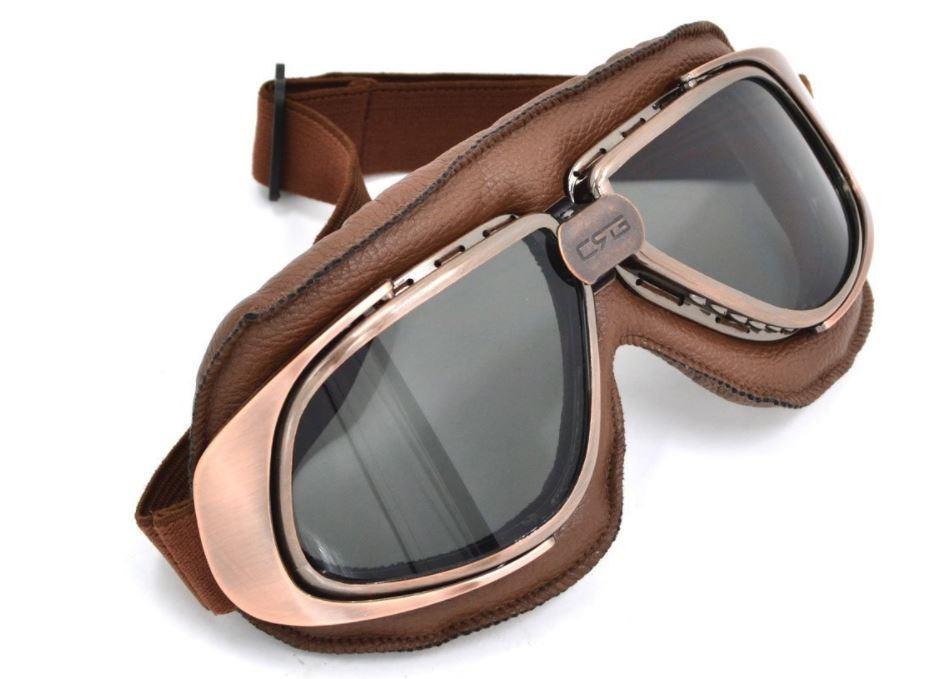 óculos proteção aviador moto vintage café racer bronze fumê. Carregando  zoom. b366662b4f