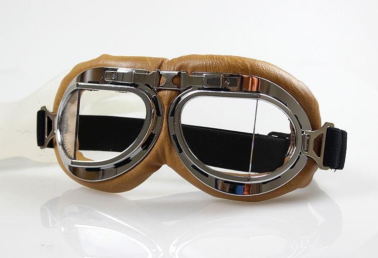 Óculos Proteção Aviador Moto Vintage Café Racer Cristal - R  80,00 em  Mercado Livre ab516ed6ea