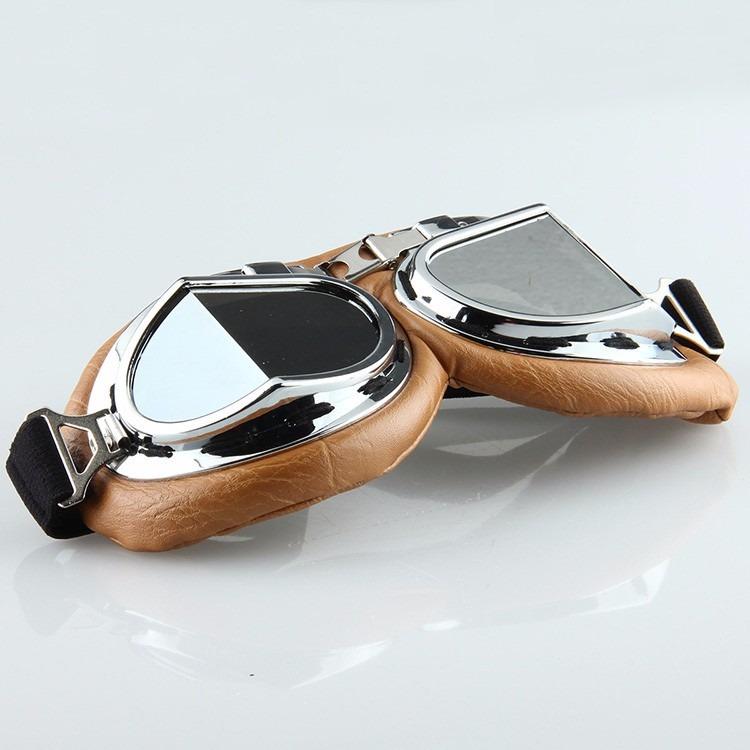 Óculos Proteção Aviador Moto Vintage Café Racer Cristal - R  80,00 ... 48f77c63a8