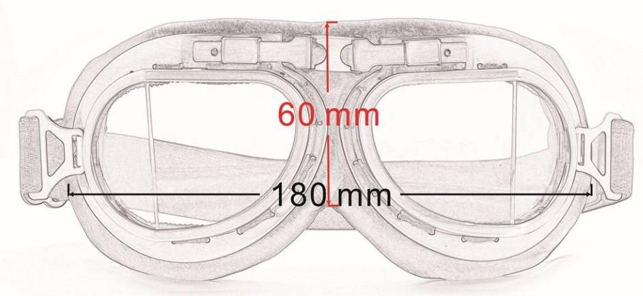 óculos proteção aviador moto vintage café racer cristal. Carregando zoom. 4b6c91165f