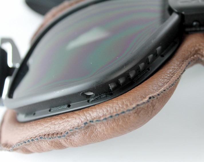 Óculos Proteção Aviador Moto Vintage Chopper Café Racer Fumê - R  79 ... 8de77e3be8
