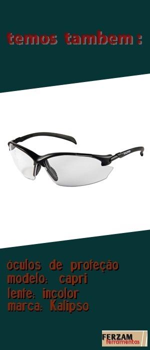 Óculos Proteção Capri, Cor Cinza Marca Kalipso 2 Unids - R  45,50 em ... 13399ce181