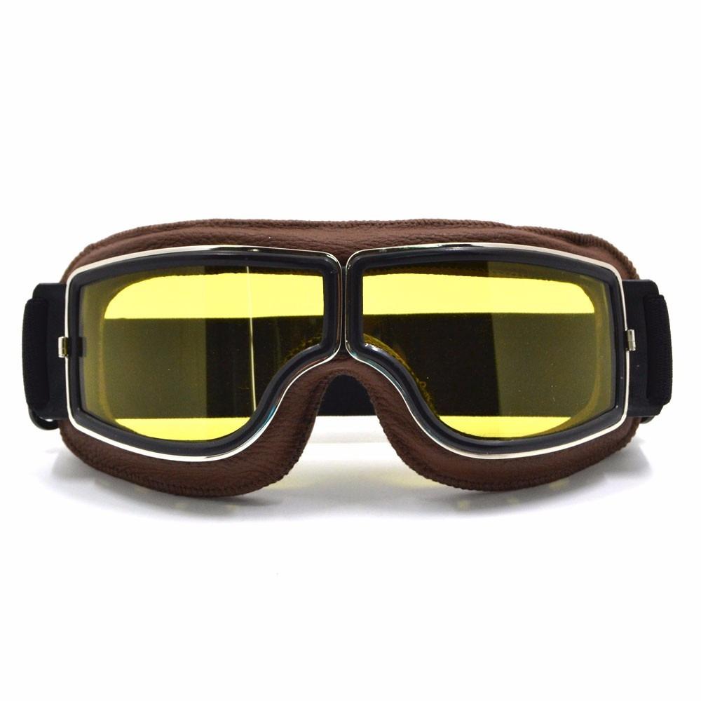 ce9a84aeef745 óculos proteção goggle vintage goggles aviador moto amarelo. Carregando  zoom.