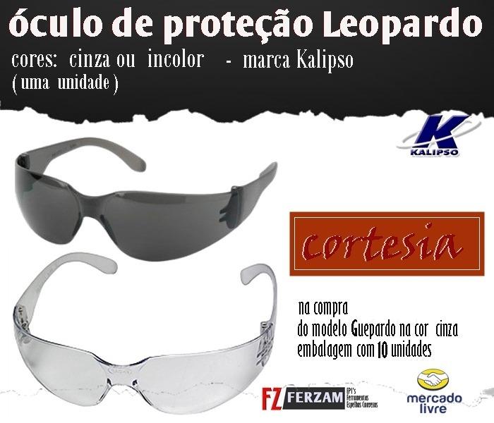 Óculos Proteção Guepardo Cinza Caixa 10 Unds -frete Gratis - R  150 ... aab7943aae